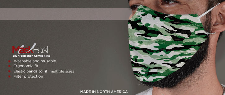 Elastic Bands Face Masks | www.namebadgesinternational.us
