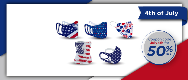 Patriotic Face Masks | www.namebadgesinternational.us